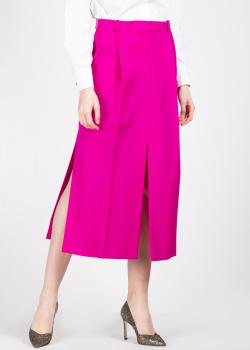 Юбка цвета фуксия Nina Ricci с разрезом, фото