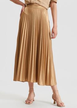 Плиссированная юбка Twin-Set с золотистым отливом, фото