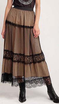 Кружевная юбка-миди Twin-Set на резинке, фото
