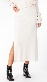 Белая юбка-миди Patrizia Pepe с разрезом, фото