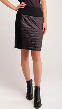 Комбинированная юбка Airfield черного цвета на молнии, фото