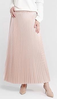 Плиссированная юбка Blugirl Blumarine пудрового цвета, фото