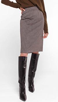 Коричневая юбка Luisa Cerano с высокой посадкой, фото