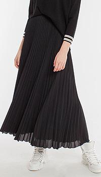 Плиссированная юбка LuisaCerano черного цвета, фото