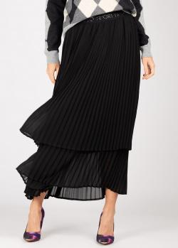 Плиссированная юбка Liu Jo черного цвета, фото