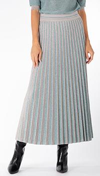 Плиссированная юбка D.Exterior серого цвета, фото
