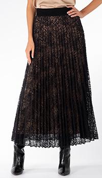 Плиссированная юбка D.Exterior черного цвета, фото