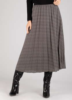 Плиссированная юбка Luisa Cerano серого цвета, фото