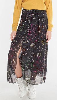 Шелковая юбка Dorothee Schumacher с разноцветным принтом, фото