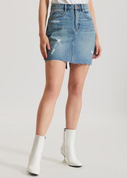 Джинсовая юбка-мини Miss Sixty с необработанным краем, фото