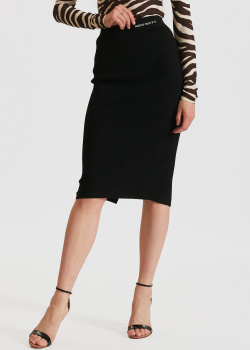Трикотажная юбка Miss Sixty черного цвета, фото