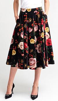 Юбка-клеш Dolce&Gabbana с цветочным принтом, фото