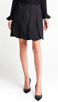 Плиссированная юбка Valentino черного цвета, фото