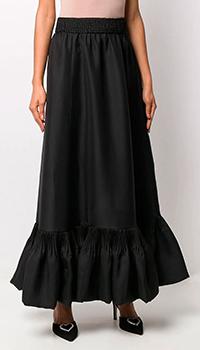 Шелковая юбка Valentino с подолом-баской, фото