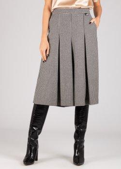 Серая юбка Love Moschino в крупную складку, фото