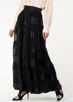 Черная юбка-макси Zimmermann с эластичным поясом, фото