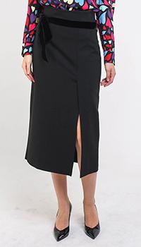 Черная юбка-миди Blugirl с разрезом, фото