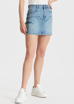 Джинсовая юбка Miss Sixty голубого цвета, фото