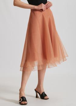 Многослойная юбка Elisabetta Franchi средней длины, фото
