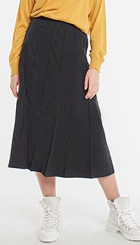 Темно-синяя юбка Laurel в крупную складку, фото