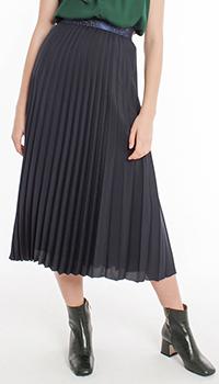 Плиссированная юбка Laurel темно-синего цвета, фото