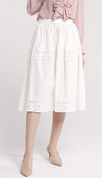 Белая юбка Blugirl Blumarine с кружевом, фото