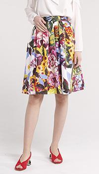 Цветная юбка Blugirl Blumarine с цветочным принтом, фото