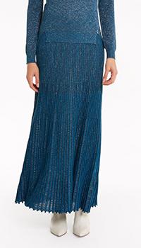 Синяя юбка Patrizia Pepe с плиссировкой, фото