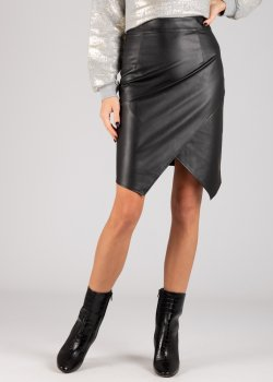 Черная юбка Patrizia Pepe из искусственной кожи, фото