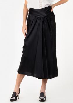 Юбка-миди Alberta Ferretti черного цвета, фото