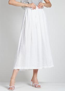 Льняная юбка Aspesi белого цвета, фото