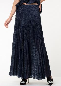 Длинная юбка-плиссе Self-Portrait с блестками, фото