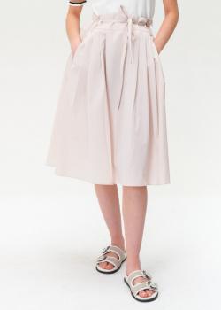 Пудровая юбка Bogner со складками, фото