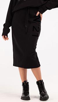 Трикотажная юбка N21 черного цвета, фото