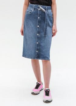 Джинсовая юбка Calvin Klein с поясом, фото