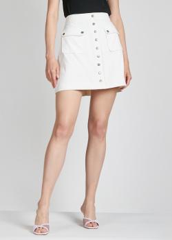 Белая юбка-мини Alexa Chung на кнопках, фото