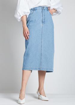 Джинсовая юбка Christian Wijnants голубого цвета, фото