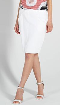 Юбка-карандаш DVF белого цвета с карманами, фото