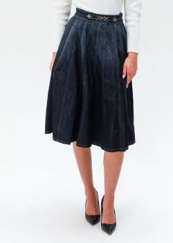 Джинсовая юбка Elisabetta Franchi с карманами, фото