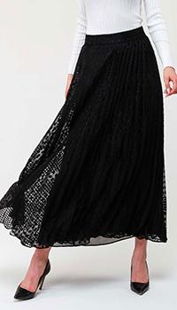 Плиссированная юбка Emporio Armani черного цвета, фото