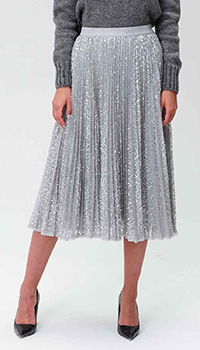 Плиссированная юбка Ermanno Ermanno Scervino с пайетками, фото