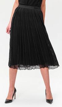 Плиссированная юбка Ermanno Scervino с кружевной вставкой, фото
