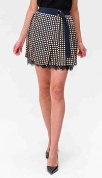 Синяя юбка Ermanno Scervino с поясом, фото