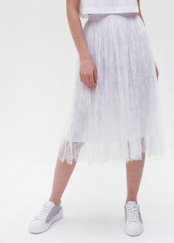 Белая юбка Ermanno Ermanno Scervino с кружевом, фото
