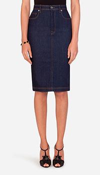 Джинсовая юбка Dolce&Gabbana синего цвета, фото