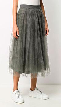 Плиссированная юбка Fabiana Filippi на резинке, фото