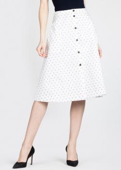 Белая юбка-миди Jil Sander с накладными карманами, фото