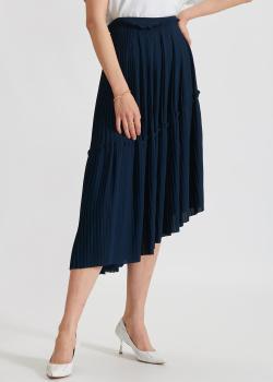 Плиссированная юбка Kenzo синего цвета, фото