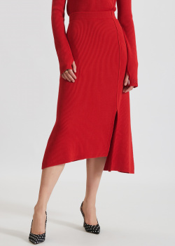 Трикотажная юбка Kenzo красного цвета, фото