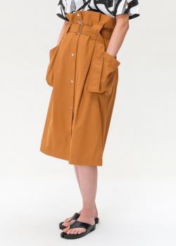 Коричневая юбка Kenzo с объемными карманами, фото